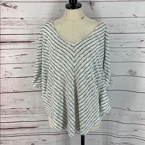 Cato 26/28 Stripe Poncho Style Butterfly Blouse